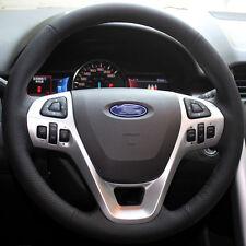 Leather Steering Wheel Cover for Ford Edge Explorer Taurus 2011 2012 2014 2015