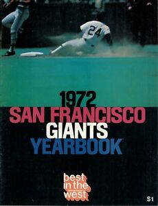 SAN FRANCISCO GIANTS 1972 YEARBOOK VINTAGE (MAYS, McCOVEY & MARICHAL)
