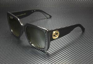 GUCCI GG0141S 001 Rectangular Square Black Grey 53 mm Women's Sunglasses