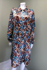 CHADWICK'S COLLECTION Women's Multi-Colored Button Down Dress~Size 16