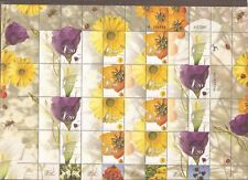 Israel 2001 Flowers Generic Full Sheet Imperf Left Margin Bale GS.01a