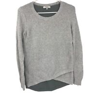 Madewell Ladies XS Long Sleeve Top Gray Flannel Extra Small