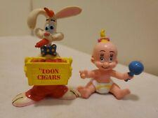 1987 Vintage Roger Rabbit Pvc Figures set of 2 Herman and Roger Rabbit