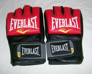 Everlast MMA Grappling Striking Training Gloves 4oz S/M Open Fingers Adjustable