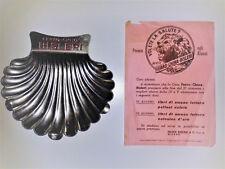 Posacenere pubblicitario vintage Bisleri ferro china anni '50, con locandina