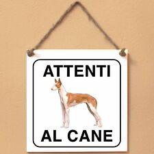 Podenco ibicenco 2 Attenti al cane Targa cane cartello ceramic tles