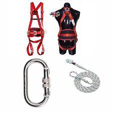 Ablass Set Auffangsystem 3P Auffanggurt Fallschutz Absturzsicherung Seil 15m