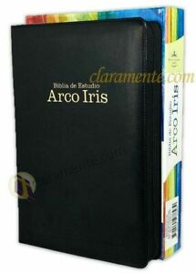 Biblia de Estudio Pastoral Arco Iris con Cierre Reina Valera 1960 piel e indice