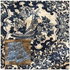 Pair of Lauren Ralph Lauren Tamarind Blue Porcelain Bird King Pillowcases Cotton
