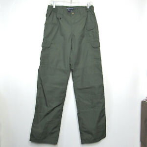 511 Tactical Taclite Womens Cargo Work Green Pro Pants EMS Police 12 Long