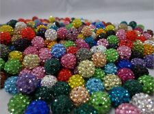 100pcs/lot 10mm Mixed Micro Pave Disco Crystal Shamballa Beads Bracelet Spacer