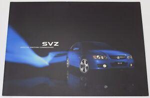 New Holden Commodore VZ SVZ Special Edition Sales Brochure Impulse Blue