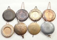 Lot Of 8 Antique Mantel Shelf Clock Pendulums Parts Repair