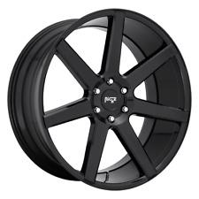 "4 Wheels Niche 1Pc FUTURE Gloss Black 22x9.5"" Rims Chevy GM Toyota 6X5.5+19"