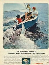 B- Publicité Advertising 1965 Moteur bateau Hors bord Johnson