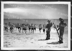 1940 post Dunkirk - Green Howards swimming at Poole #1 - I.W.M. photo 18 by 13cm
