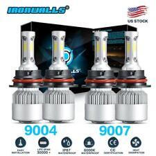 9004 + 9007 Hi-Low Beam LED Headlight Bulbs for 99-01 Dodge Ram 3500 2500 1500