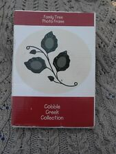 NIB Cobble Creek Collection Family Tree Photo Frame 3 pictures in leaf shape