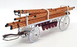 Unbranded 30cm Long Diecast FC01 - Horse Drawn Fire Ladder Cart - White