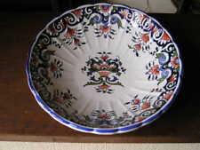 assiette ancienne ROUEN ,décor fait main