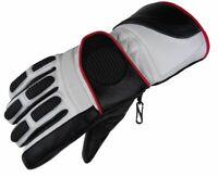 Damen Winter Motorrad Handschuhe Leder Ski Winterhandschuhe Neu Gr XS - M
