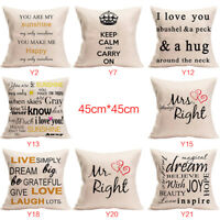 Fashion English Alphabet Pillowcase Home Bedroom Living Room Decoration New