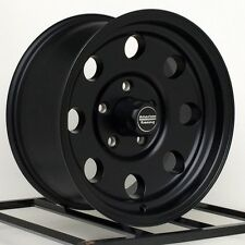 "15 inch Black Wheels Rims Import Truck Toyota Isuzu GMC Chevy Pickup 15x8"" 6 Lug"