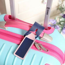 Attractive Leather Travel Bag Trip Luggage Suitcase Name Holder Label ID Tag