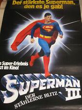 SUPERMAN 3 Der Stählerne Blitz - Poster Plakat XXL Riesengroß Christopher Reeve