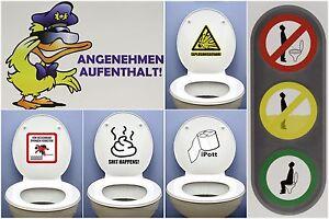 WC Toiletten-Aufkleber Bad Klodeckel Toilettendeckel Türaufkleber Gäste-WC - NEU