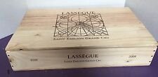WOODEN WINE CRATE BOX CHATEAU LASSEGUE ST. EMILION GRAND CRU