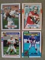 1986-1992 Topps football lot of 769 different with stars for set builders