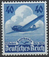 Stamp Germany Mi 603 Sc 469 1936 War Heinkel Airplane Lufthansa Airways MNG
