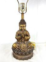 """Buddha Table Lamp 28"""" Tall Made of Wood or Resin NO SHADE"""