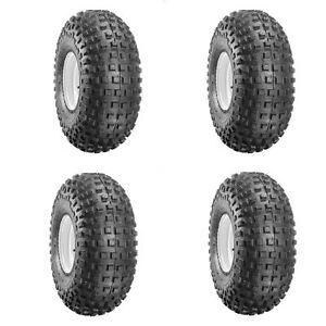 Set Of 4 Duro 145x70x6 Suzuki LT50 Knobbly Tyres 145/70-6