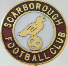 Scarborough FC vintage badge Maker CR Moore Ltd Stick pin doré 15 mm x 15 mm