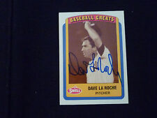 DAVE LA ROCHE 1990 SWELL BASEBALL GREATS SIGNED AUTOGRAPHED CARD #108 YANKEES
