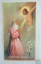 VINTAGE CATHOLIC HOLY CARD St. Catherine Siena Mystic picture