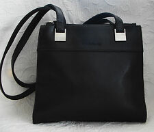 LIZ CLAIBORNE Dark Chocolate Brown Shoulder Bag Double Straps 3 Compartments Nic