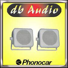 Phonocar 66/198 Coppia Casse a 2Vie in Box da 10cm 50Watt Altoparlanti Bianchi