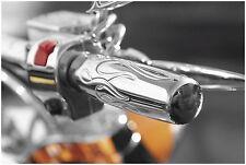 Baron Custom Accessories Flame Contour Grips  BA-7403-00*