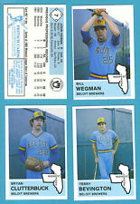 1982 Fritsch Midwest League Team Set Beloit Brewers