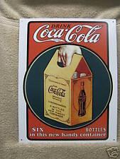 Coke Coca Cola Tin Metal Sign VINTAGE LOOK BOTTLE NEW Pop Soda