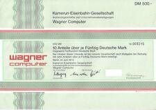 Kamerun-Eisenbahn-Gesellschaft Wagner Computer  500DM Berlin  1973