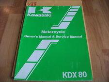 Kawasaki KDX80-C4 Owner's & Service Manual  99920-1373-01