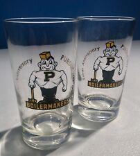 NCAA Siskiyou Sports Fan Shop Purdue Boilermakers Square Glass Shot Glass Set 2 pack Team Color