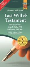 Last Will & Testament Form Pack by Richard, Dew, Eason, Rajah QC   Loose Leaf Bo