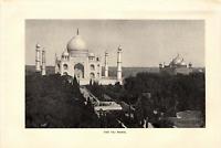 "1903 Antique Fine Art Print The Taj Mahal  Dodd Mead Co. 10"" X 6"""