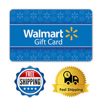 Gift Card Walmart Basic Blue Easy to Use Mail Delivery from $25 to $300
