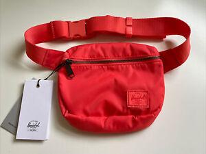 New Herschel Supply Fanny Pack Sport Active Travel Bag Sack Designer Hot Coral